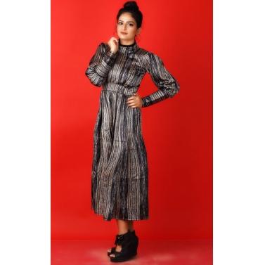 designer-womens-wear/strip-full-sleeves-satin-dress