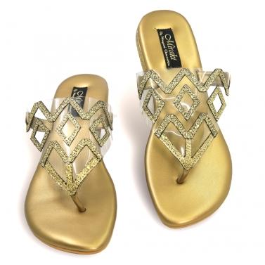 designer-womens-wear/gold-shimmer-flats