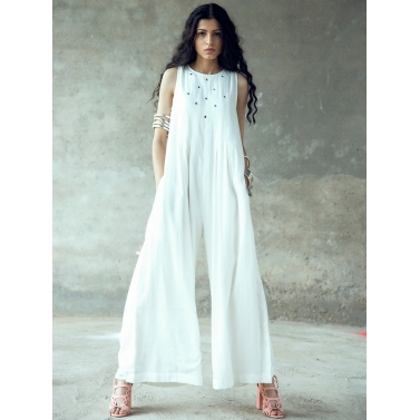 Nanda Mirror work Sleeveless Jumpsuit