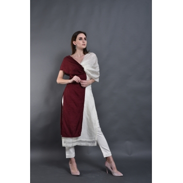 Double Shade Off Shoulder Kurta
