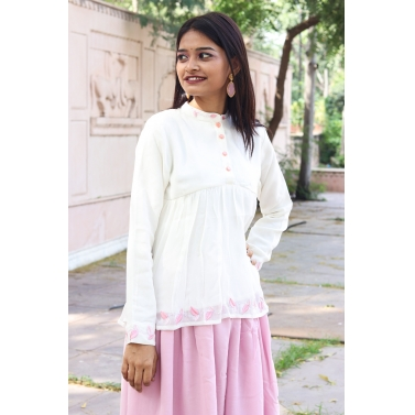 Kurti With Pleated Palazzo