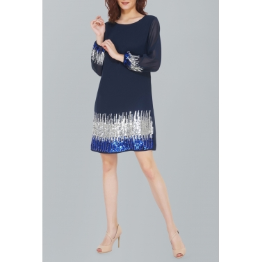 Sunrise Sequin Blue Dress