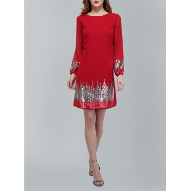 Sunrise Sequin Red Dress