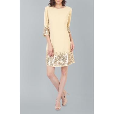 Sunrise Sequin Beige Dress
