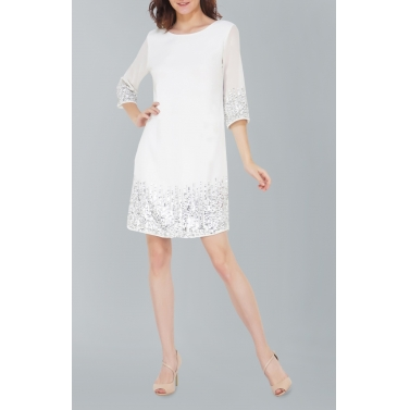 Sunrise Sequin White Dress
