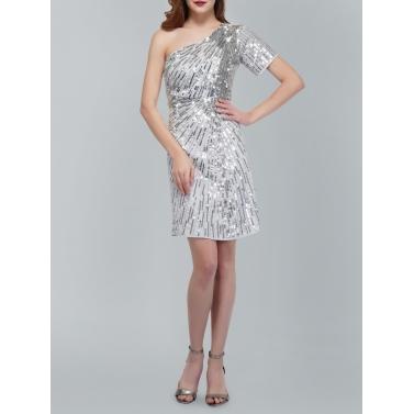 Silver Skew Dress