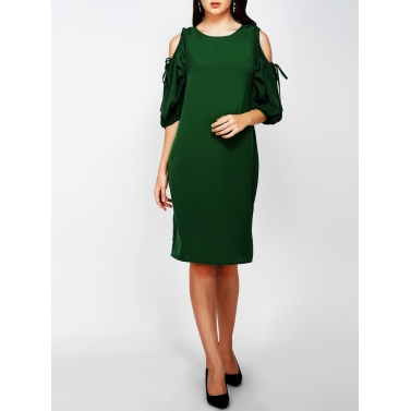 Over sized and Cold Shoulder Sleeve Dress