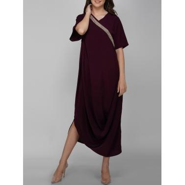 Jewel Placket Dress