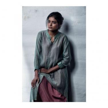 Green Chanderi Dress