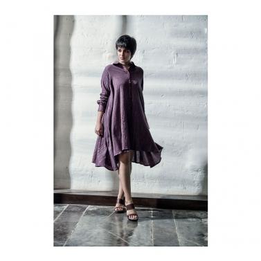 Wine Lurex Short Dress