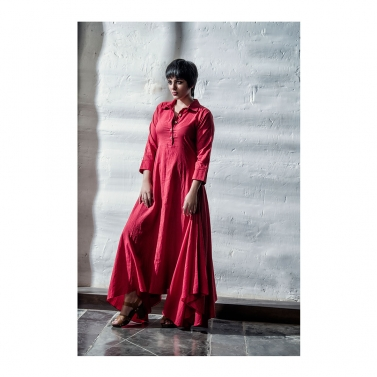 Red Cambric Long Dress