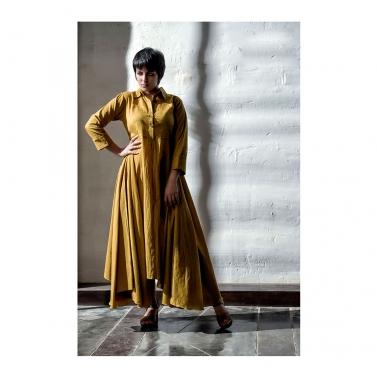 Yellow Cambric Long Dress