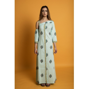 Green Orchid Gown Dress