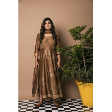 Sunflower Quad Anarkali Suit1