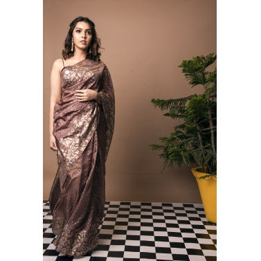 Ganga Jamuna Tendril Block Print Saree