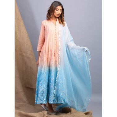 Dawn Hues Ombre Kalidaar And Dupatta Set