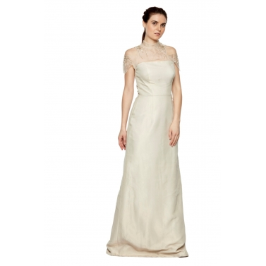 Tissue Gown With Sash