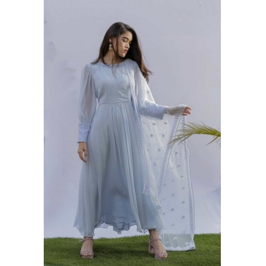 Light Blue Georgette Anarkali