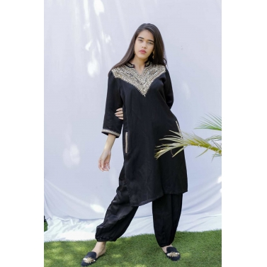 Black Punjabi Kurta with pants