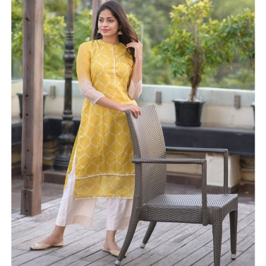 designer-womens-wear/yellow-moroccon-printed-kurta