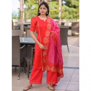 designer-womens-wear/red-chanderi-suit