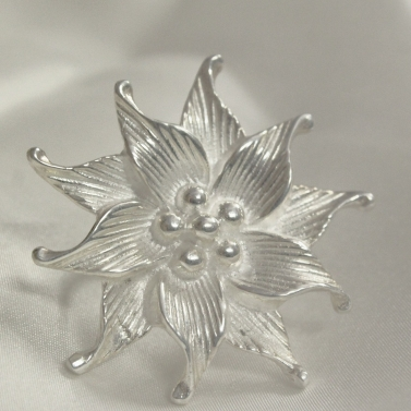 Silver Blossom Flowered Ring