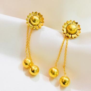 Sunflower Drop Earrings