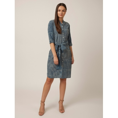PAKHI SHIRT DRESS - INDIGO