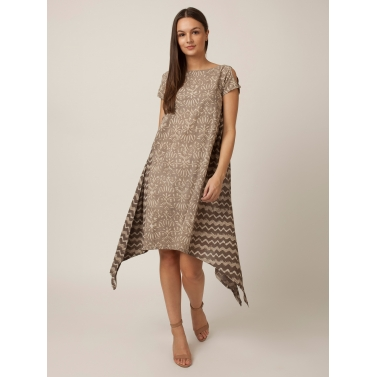 PAKHI SIDE GATHERS DRESS - GREY