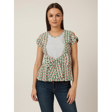 PAKHI BOW TOP - FLORAL
