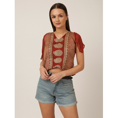 PAKHI CROP TOP - RED