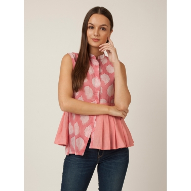 PAKHI KNIFE PLEAT TOP - PINK
