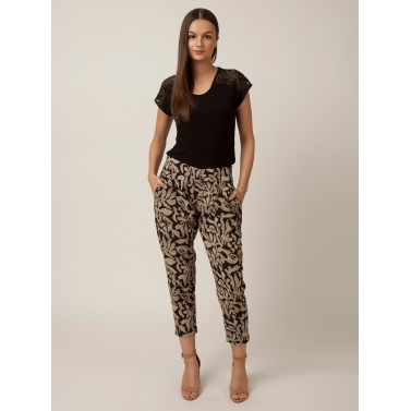 PAKHI STRAIGHT PANTS - BLACK & WHITE