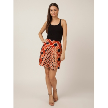 PAKHI KNIFE PLEAT SKIRT - GEOMETRICAL