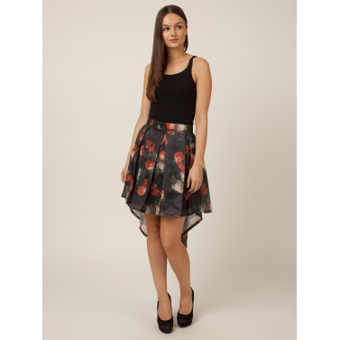 PAKHI HI-LOW SKIRT - ROSE