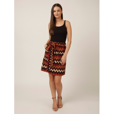 PAKHI STRAIGHT SKIRT - MULTICOLORED
