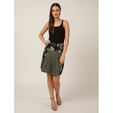 PAKHI KNIFE PLEAT SKIRT - FLORAL