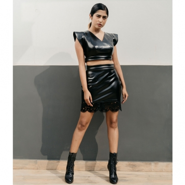designer-womens-wear/designer-skirts/noir-faux-leather-mini-skirt