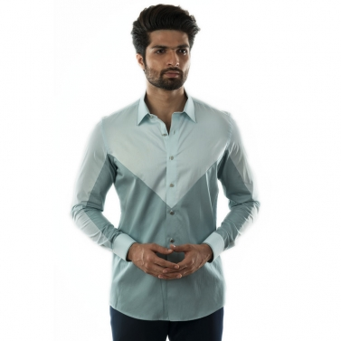 designer-mens-wear/a-dual-coloured-casual-shirt-with-piping-detail-on-collars-and-cuff-accessorised-with-metal-buttons