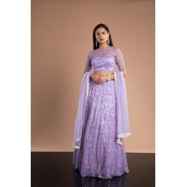 Lavender lehenga set