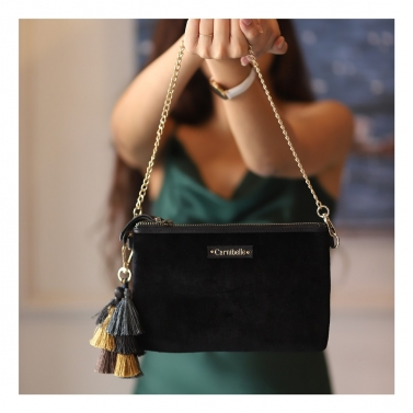designer-womens-wear/rumi-tassel-clutch-black