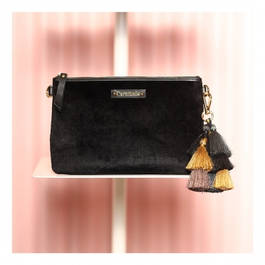 RUMI tassel clutch - Black
