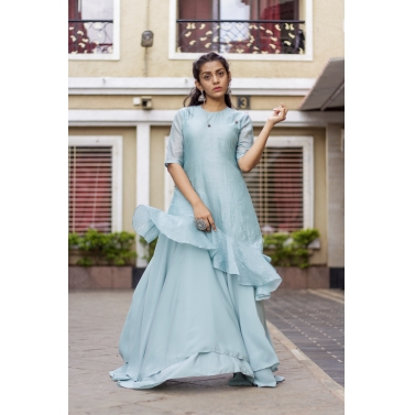 3 Layer Flared Gown