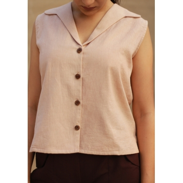 A Lapel Collar Top