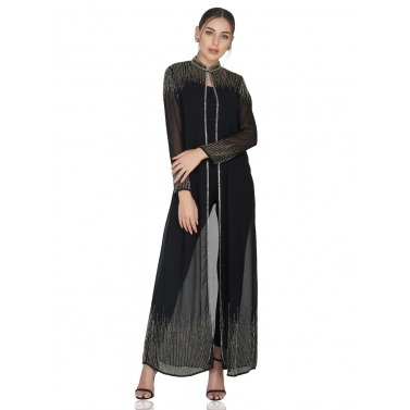 Embellished Long Cape