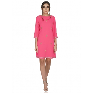 designer-womens-wear/bold-pink-constellation-dress