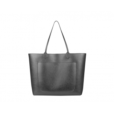 Reversy with pocket charcoal tote bag