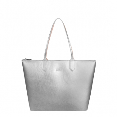 zippy silver medium tote bag