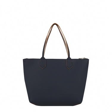 zippy navy medium tote bag