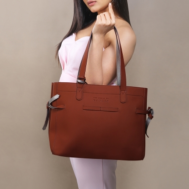 seymour tan tote bag